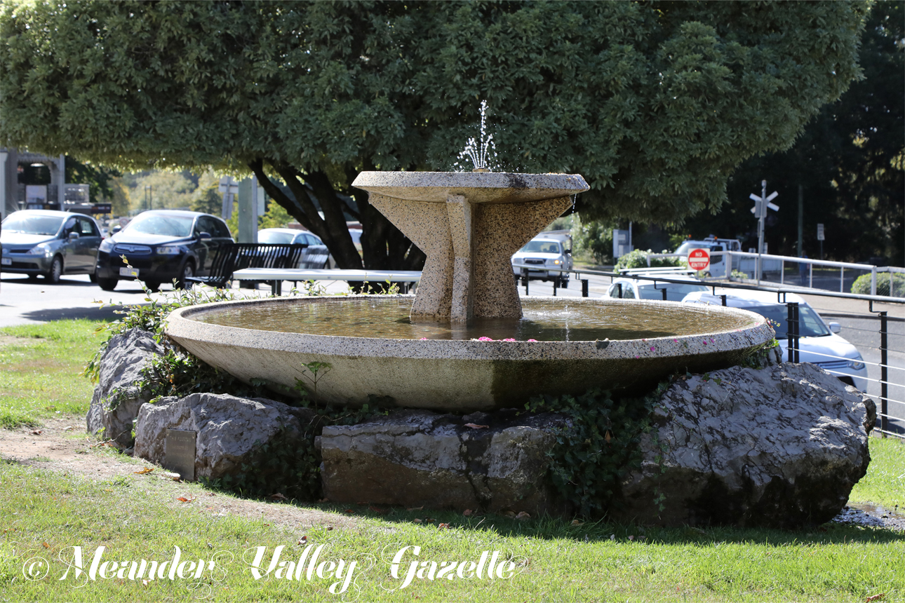 Unloved by some, does Deloraine fountain need a make-over?  Photo by Mike Moores