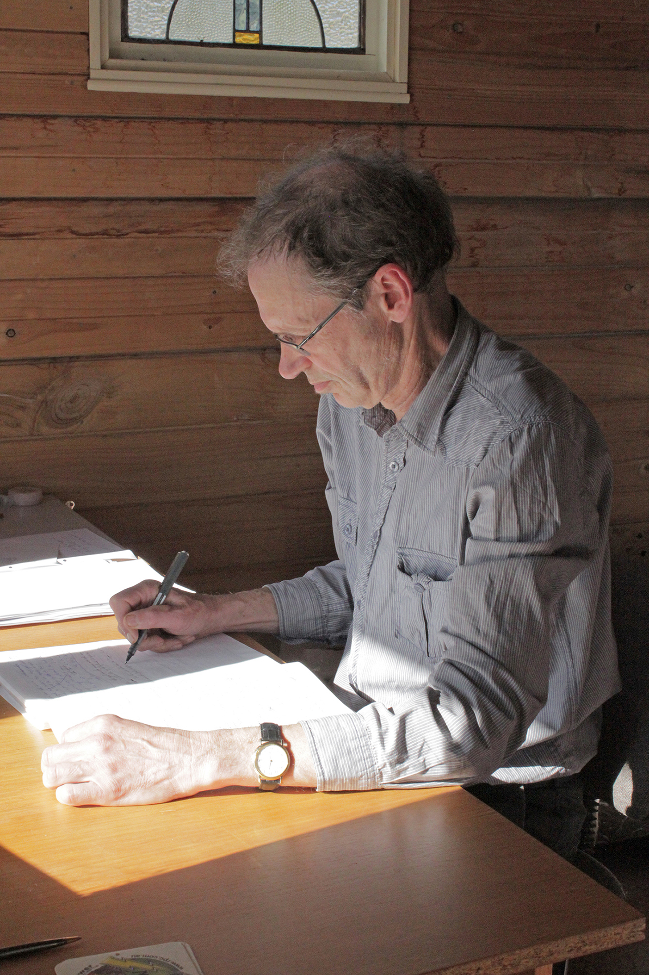 Meander resident, writer Greg Burgess, has transitioned from scientific research to fiction.  Photo by Hayley Manning