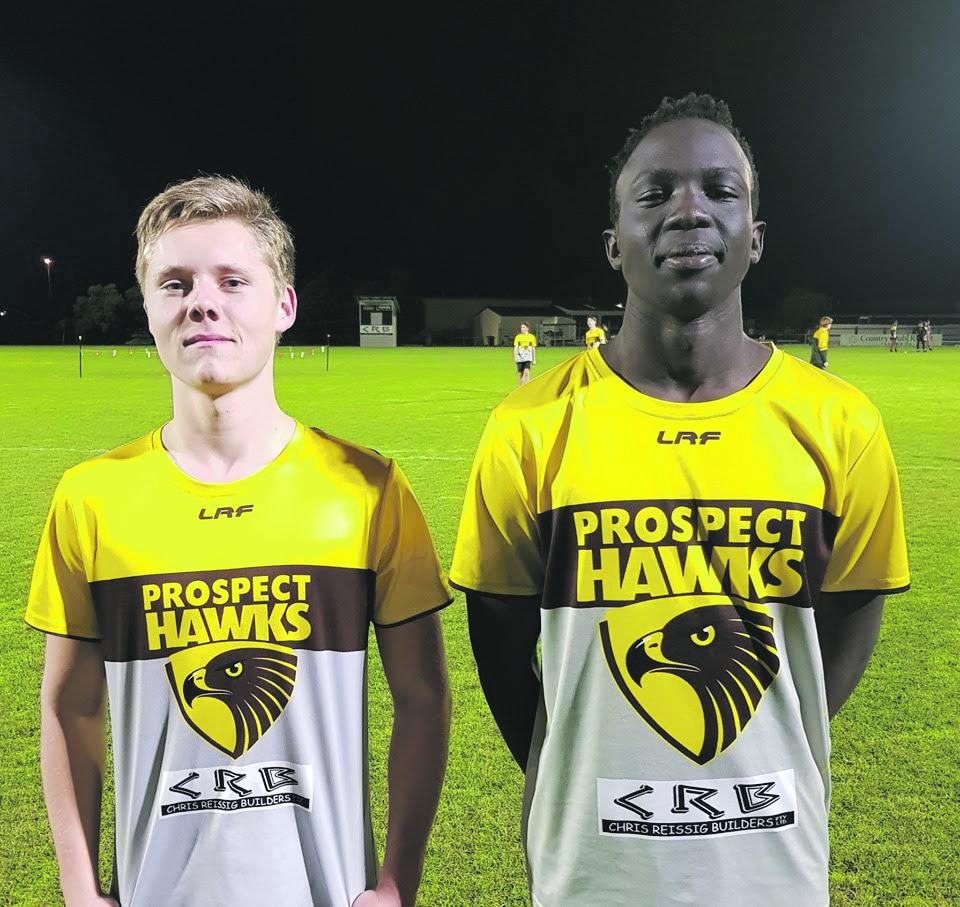 Hawks U16s, Blade Sulzberger and Tony Aganas