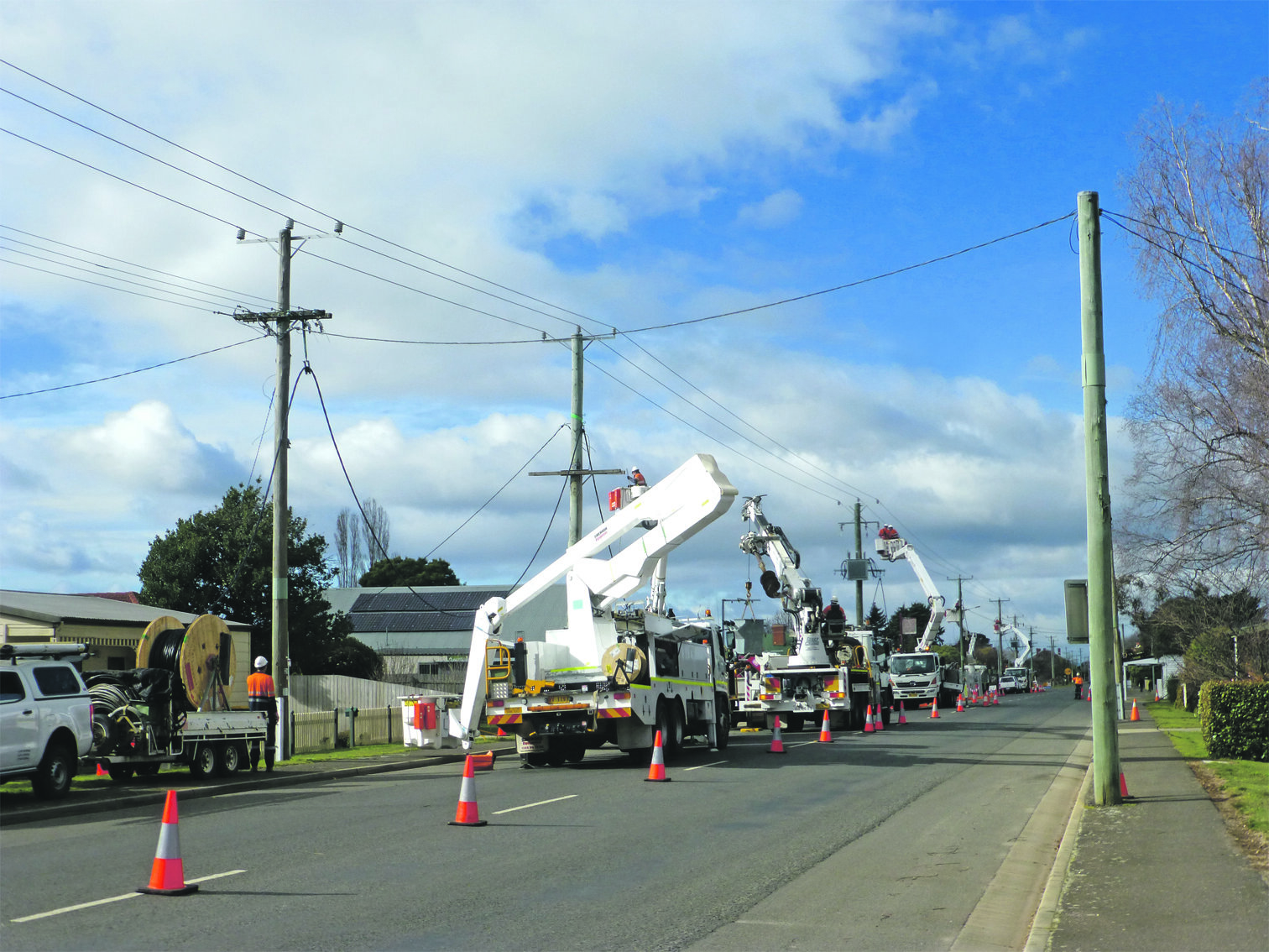Photo supplied  A quiet Sunday in Westbury left some residents without power while the new IGA was hooked up to the grid.