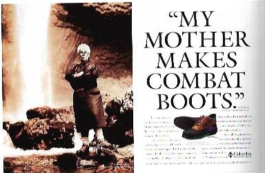 1994 - Rosey Award Winner: Consumer MagazineColumbia.My Mother Makes Combat Boots.