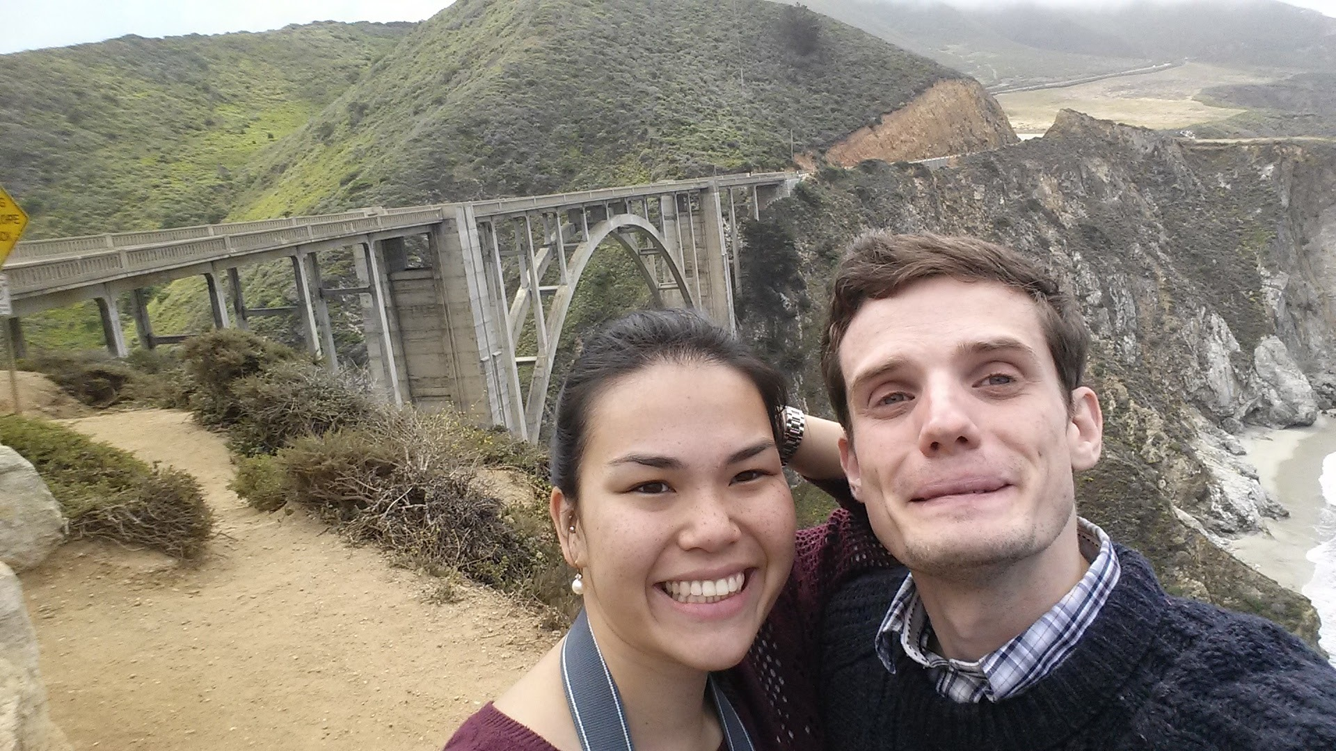 Our road trip to Big Sur during Gill's visit