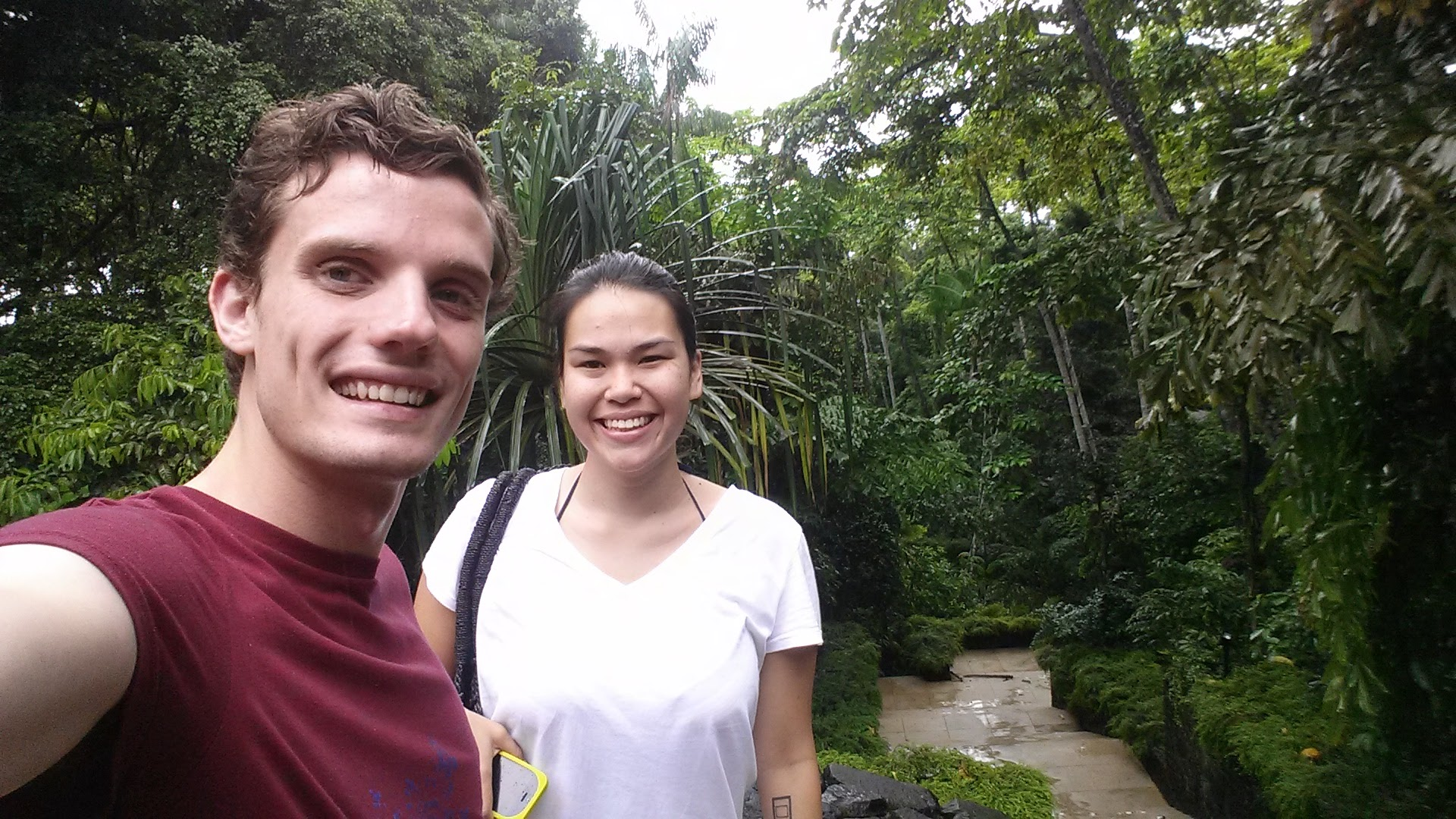 I came to stay for a month in Singapore. We got an airbnb and did a couple trips. Gill surprised me with a trip to the Datai in Langkawi on my birthday.