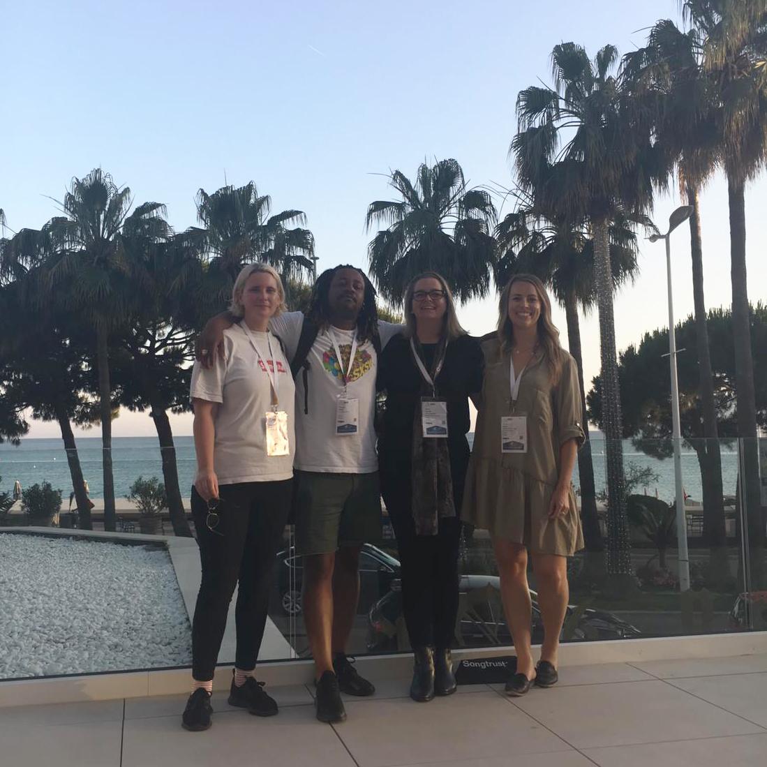 Photo: Jo Syme, Mo Komba, Bonnie Dalton and Rhianon Damas
