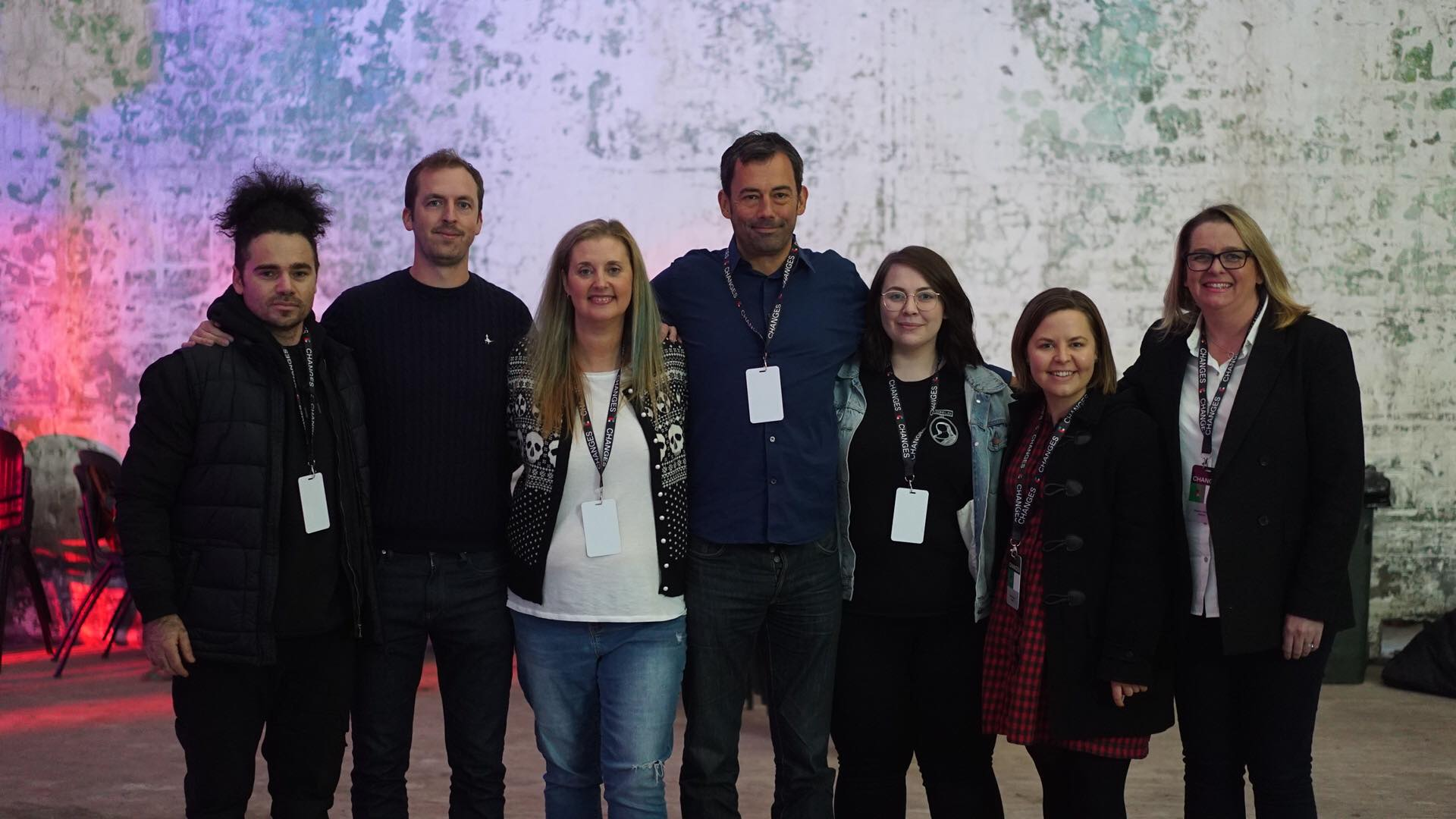 L-R: Neil Morris (VMDO), Chris Carey (Media Insight Consulting), Cameo Carlson (mtheory), Jake Beaumont Nesbitt (International Music Managers Forum), Sianne van Abkoude, Katie Stewart, Bonnie Dalton (all VMDO). Source: VMDO