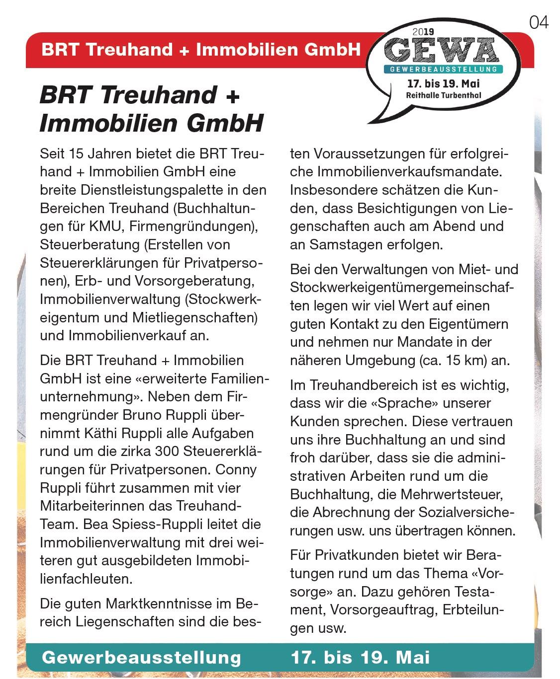 BRT Treuhand + Immobilien GmbH