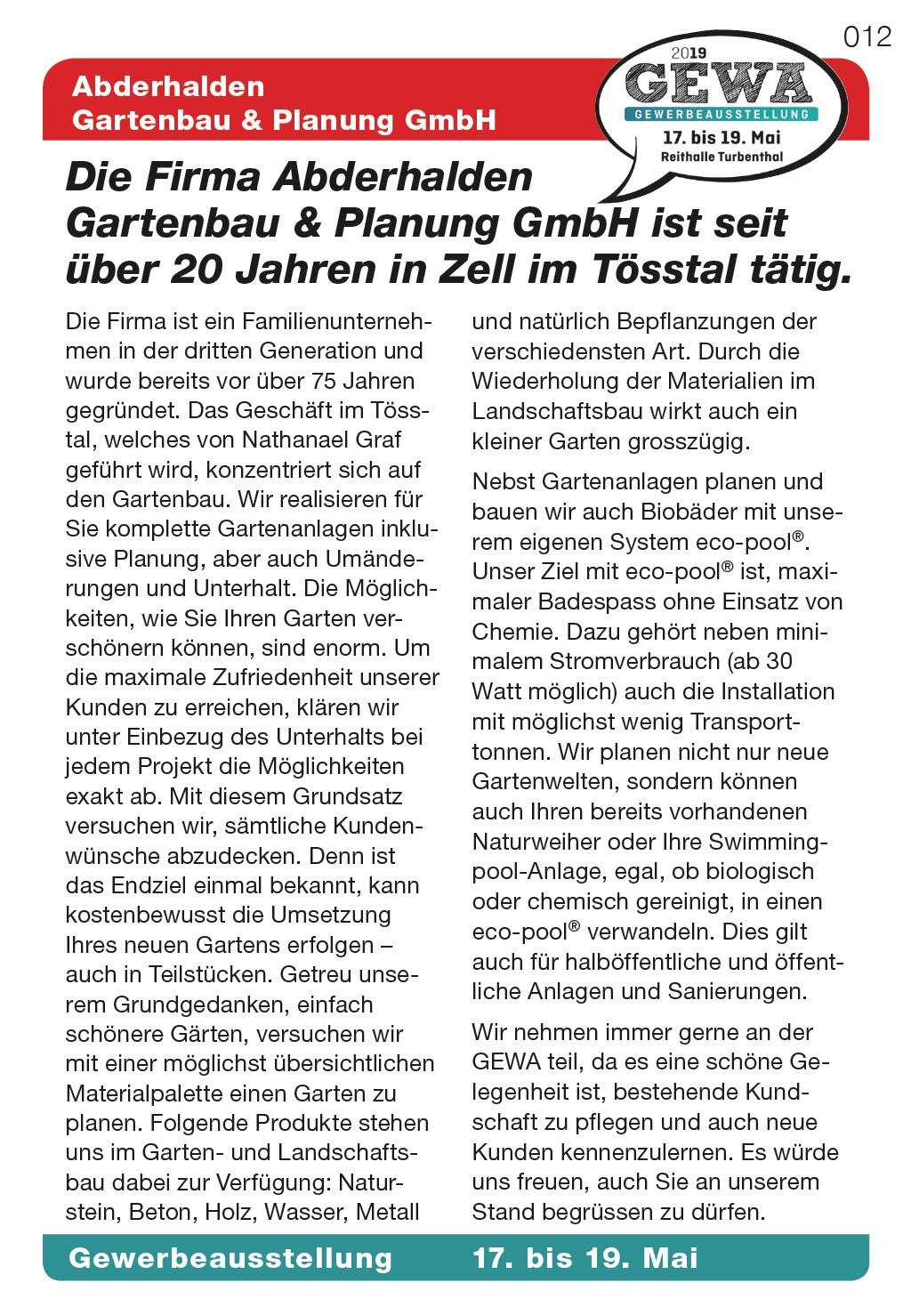 Abderhalden Gartenbau & Planung GmbH