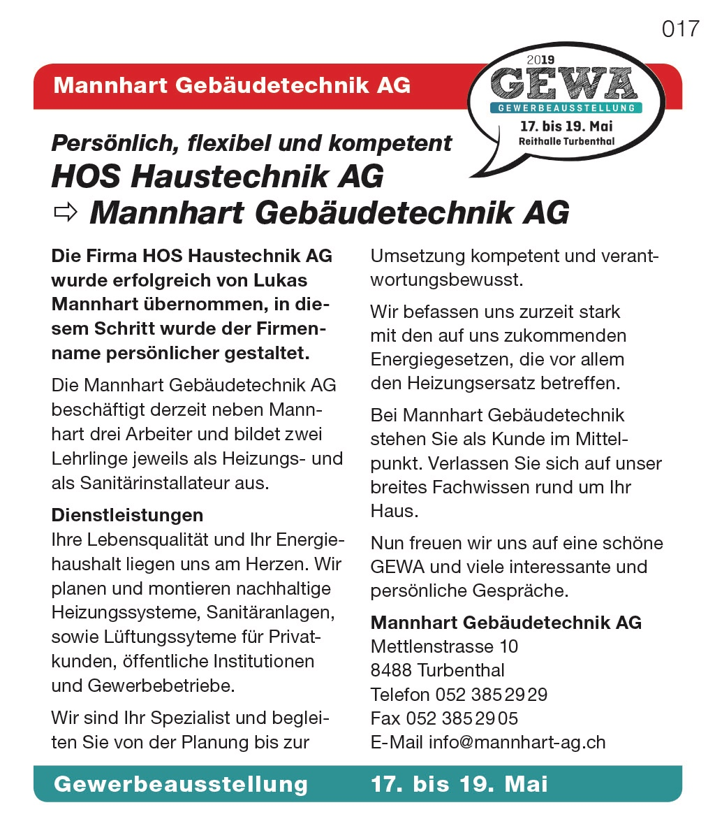 Mannhart Gebäudetechnik AG