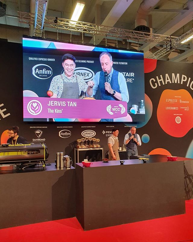 RESULTS: Thank you and congrats to Jervis Tan of Kinsmen Coffee for finishing 7th in the World Latte Art Championship 2019! We are proud of you! #singaporecoffee #WLAC2019 #SLAC2019