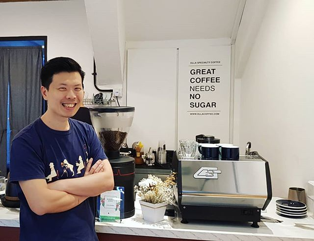 Barista of the Week.  Hee Wei, Owner and Barista for @ollacoffee  He is also a seasoned competitor in the National Barista Competition scene.  Fav Coffee: Filter Coffees  Fav Coffee Origin: Ethiopia  Check out their newly open cafe and say hi to Hee Wei as he will be more than willing to share his knowledge in coffee!  @ollacoffee 109 clementi st 11 #01-03 S120109  #specialtycoffee #gobs #guildofbaristassg #singaporecoffee #sgcafes #sgcoffees #sca #sgbaristas #baristas #specialtycafes