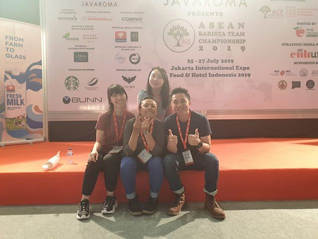 Good luck to the 3 teams representing Singapore for the first ever ASEAN Barista Team Championships! Wishing you guys all the best and have fun! ☺️ #singaporecoffee #aseancoffeefederation #ASEANbaristateamchampionship