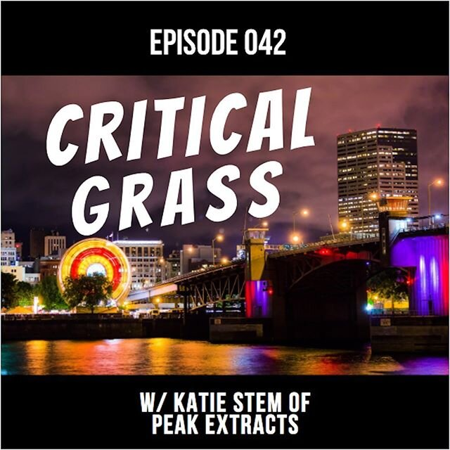 Check out our new episode w/ Katie Stem of Peak Extracts! Happy Pride Month everybody! shorturl.at/FRT46 #CriticalGrass #peakextracts #portland #oregon #acupuncture #happypridemonth #710 #420 #THC #CBD #cannabiscommunity #cannabispodcast  #medicalcannabis #cannabisextract  #cannabidiol #cannabinoids #ganja #weed #marijuana #medicalmarijuana #cannabis #hemp #hash #hashish