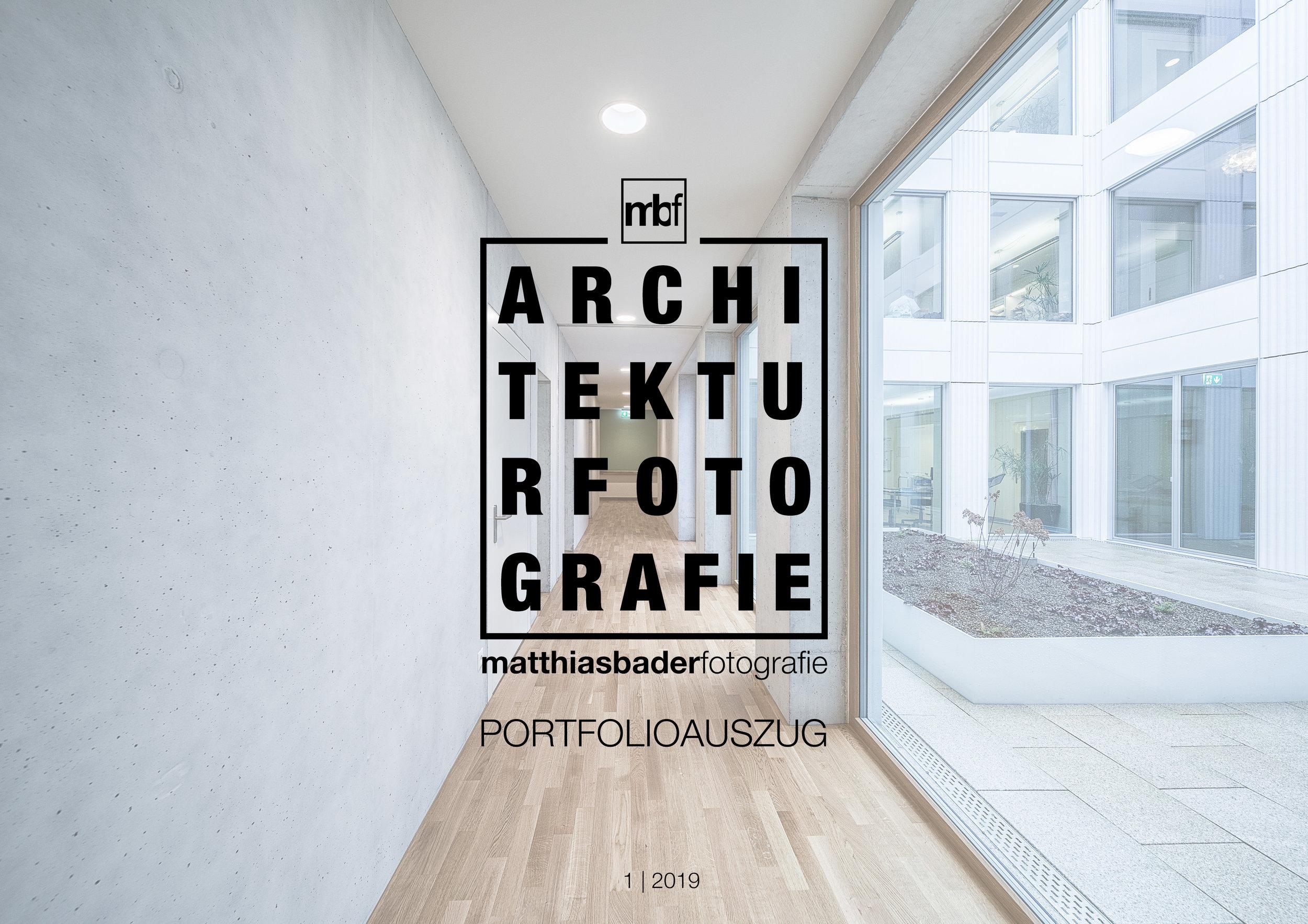 PORTFOLIOAUSZUG - Laden Sie Sich hier den aktuellen Portfolioauszug für die Architekturfotografie herunter.