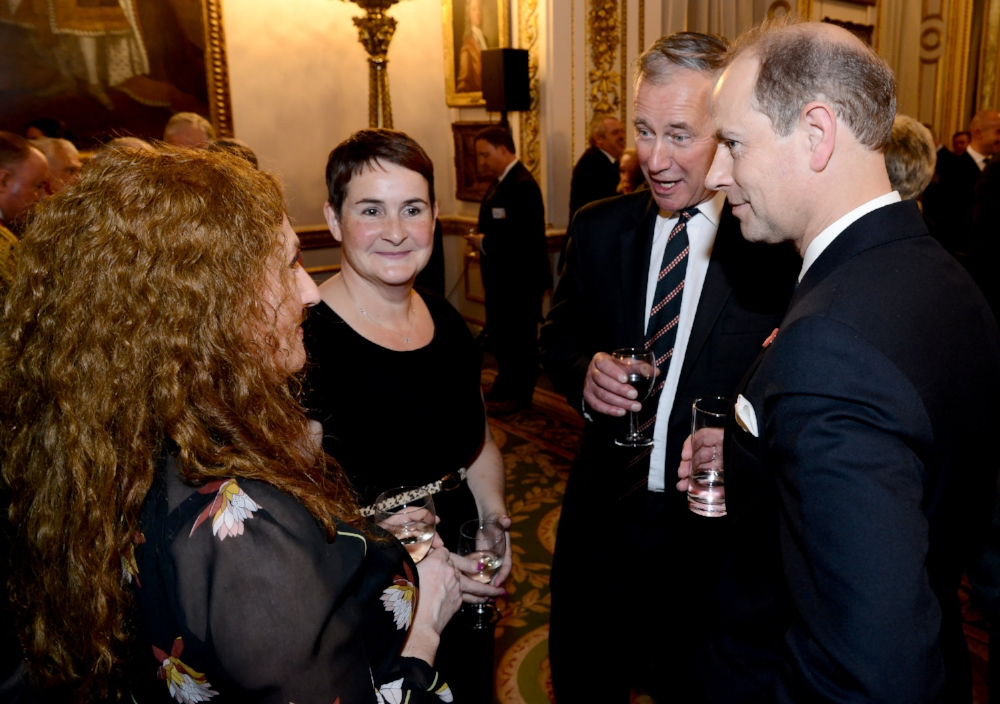 FRANCINE WITH HRH, PRINCE EDWARD, THE EARL OF WESSEX