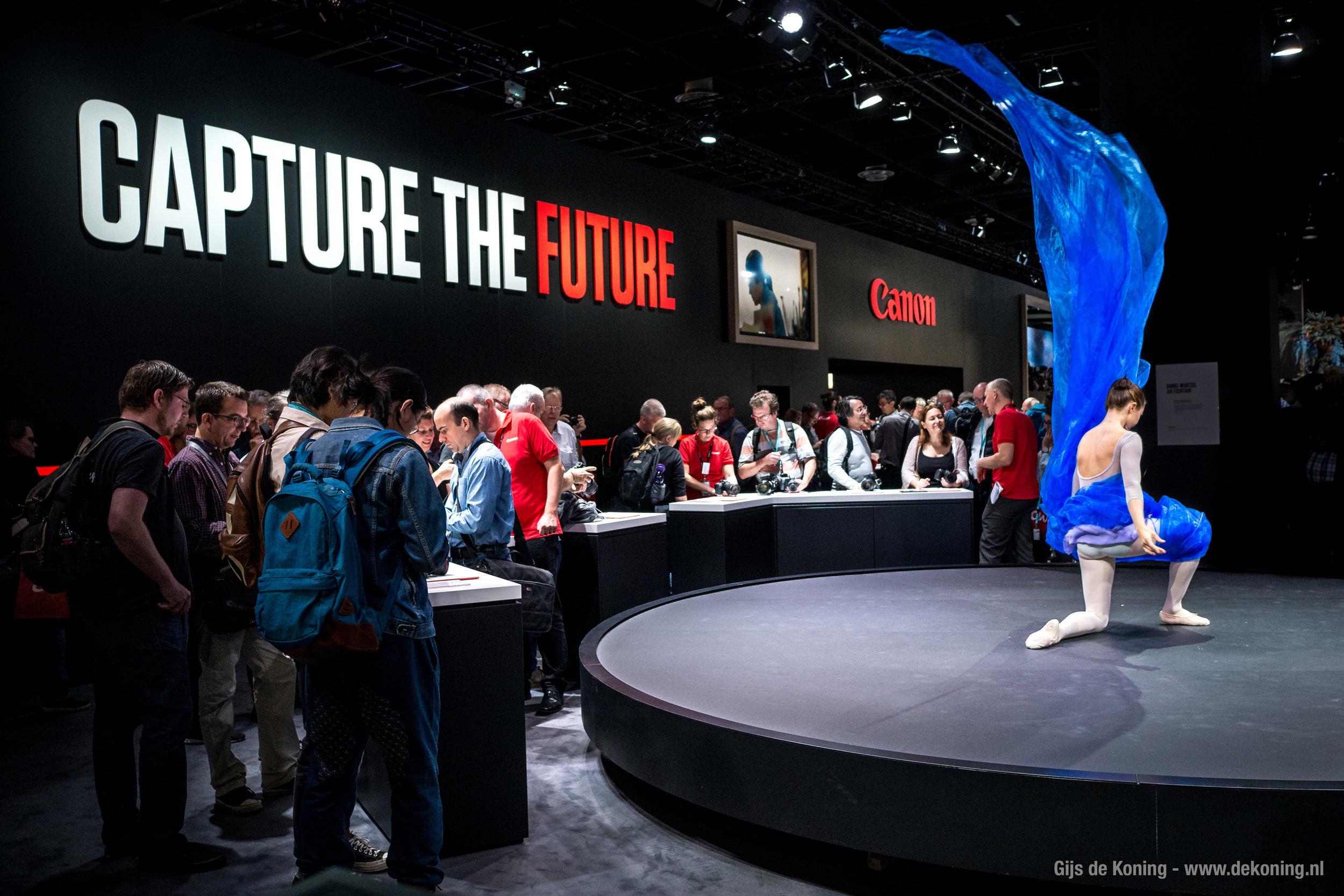Canon demonstratie op de Photokina 2018
