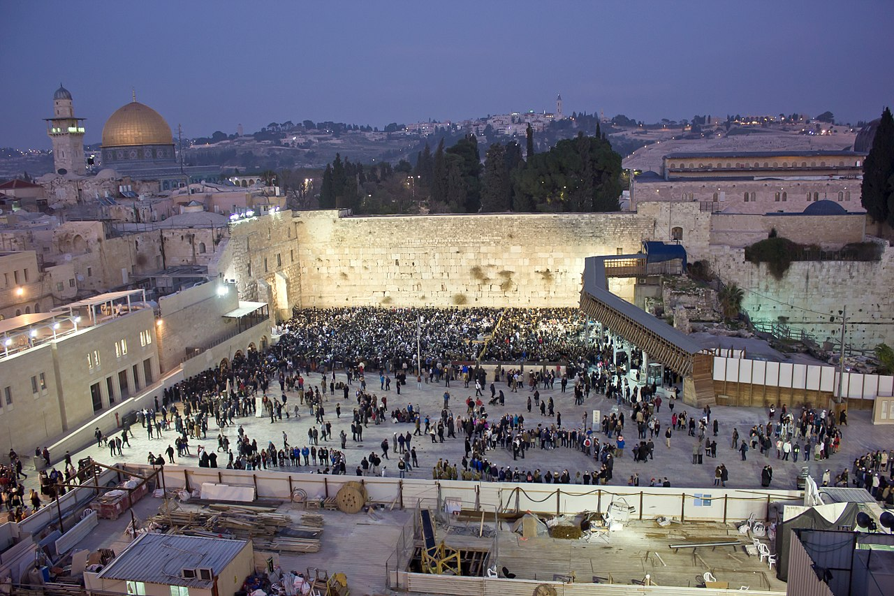 Western Wall in Jerusalem. Image from Wikipedia Commons.