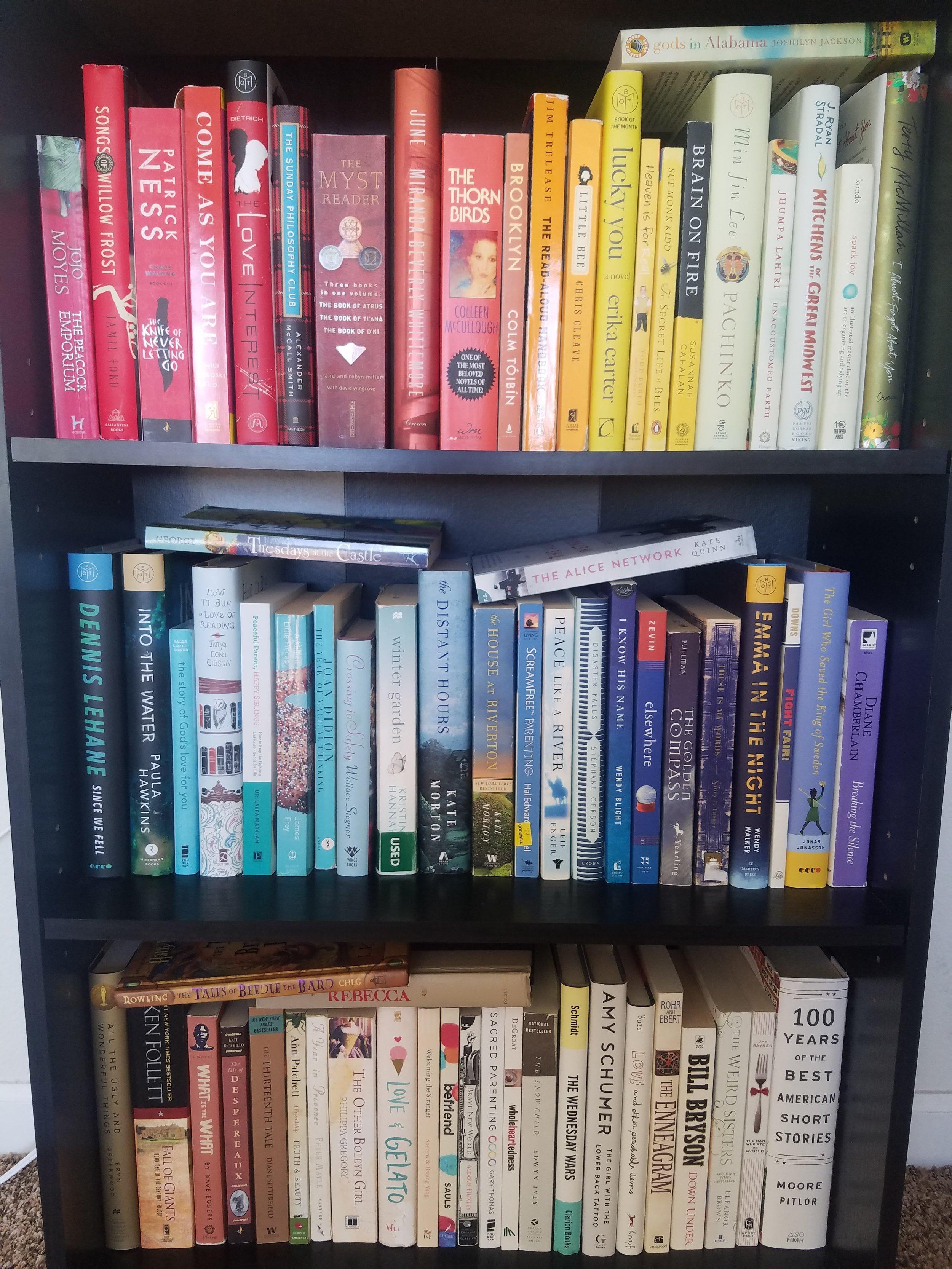 Kaytee's Rainbow Shelf Before -