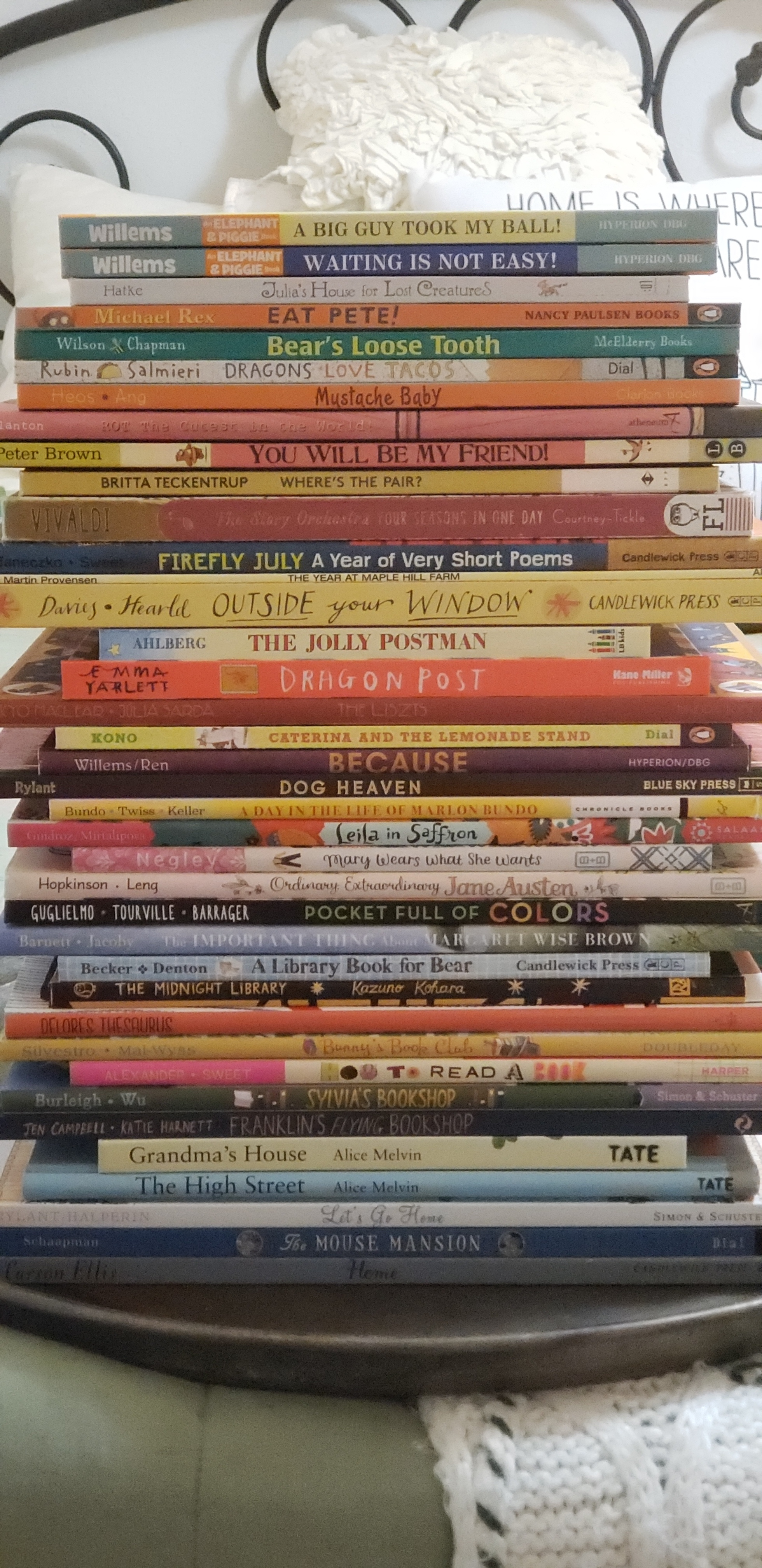 Abbey's Book Stack of the books she DIDN'T include!
