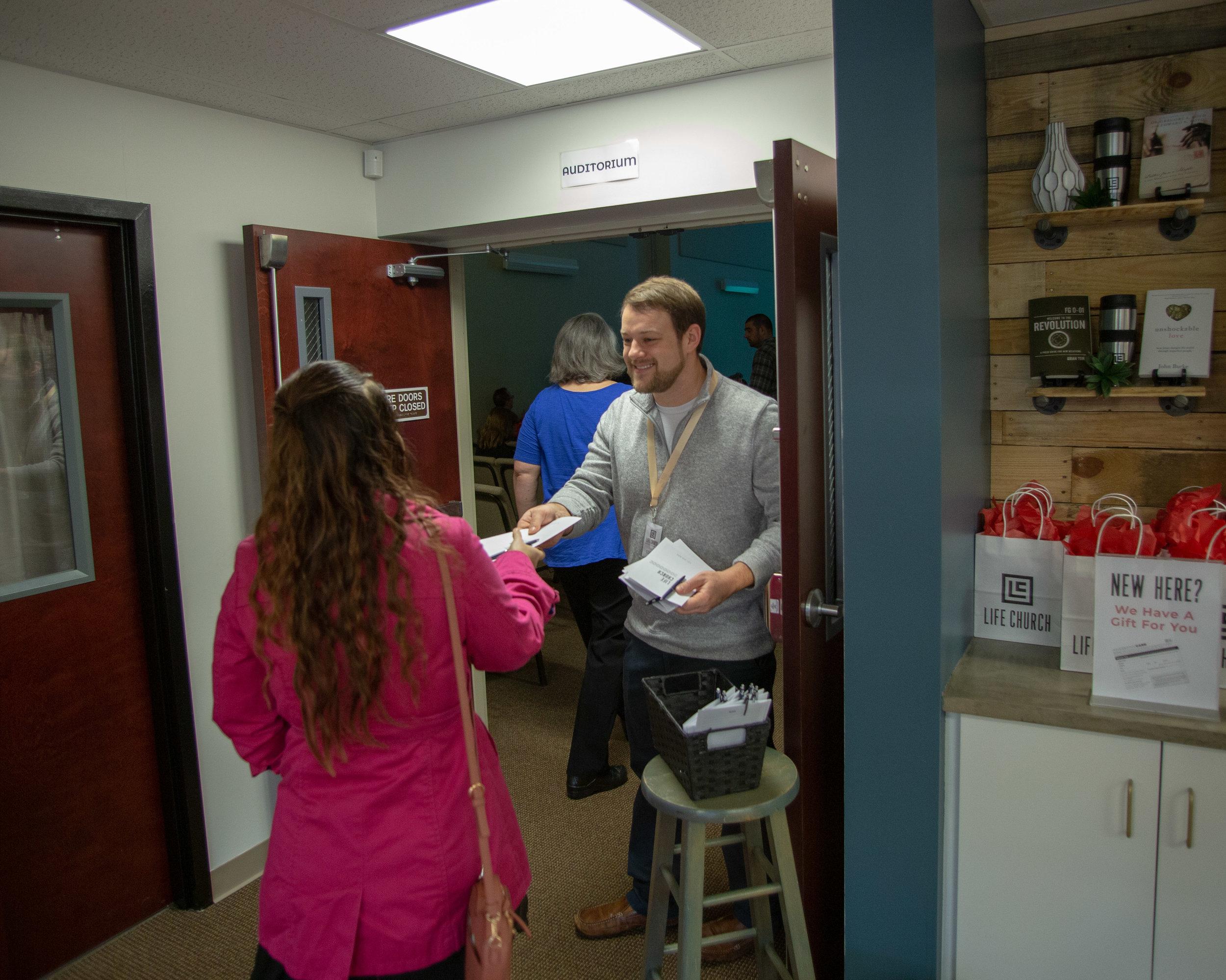 Guest Services: Lobby/Auditorium Door Greeter - Volunteer