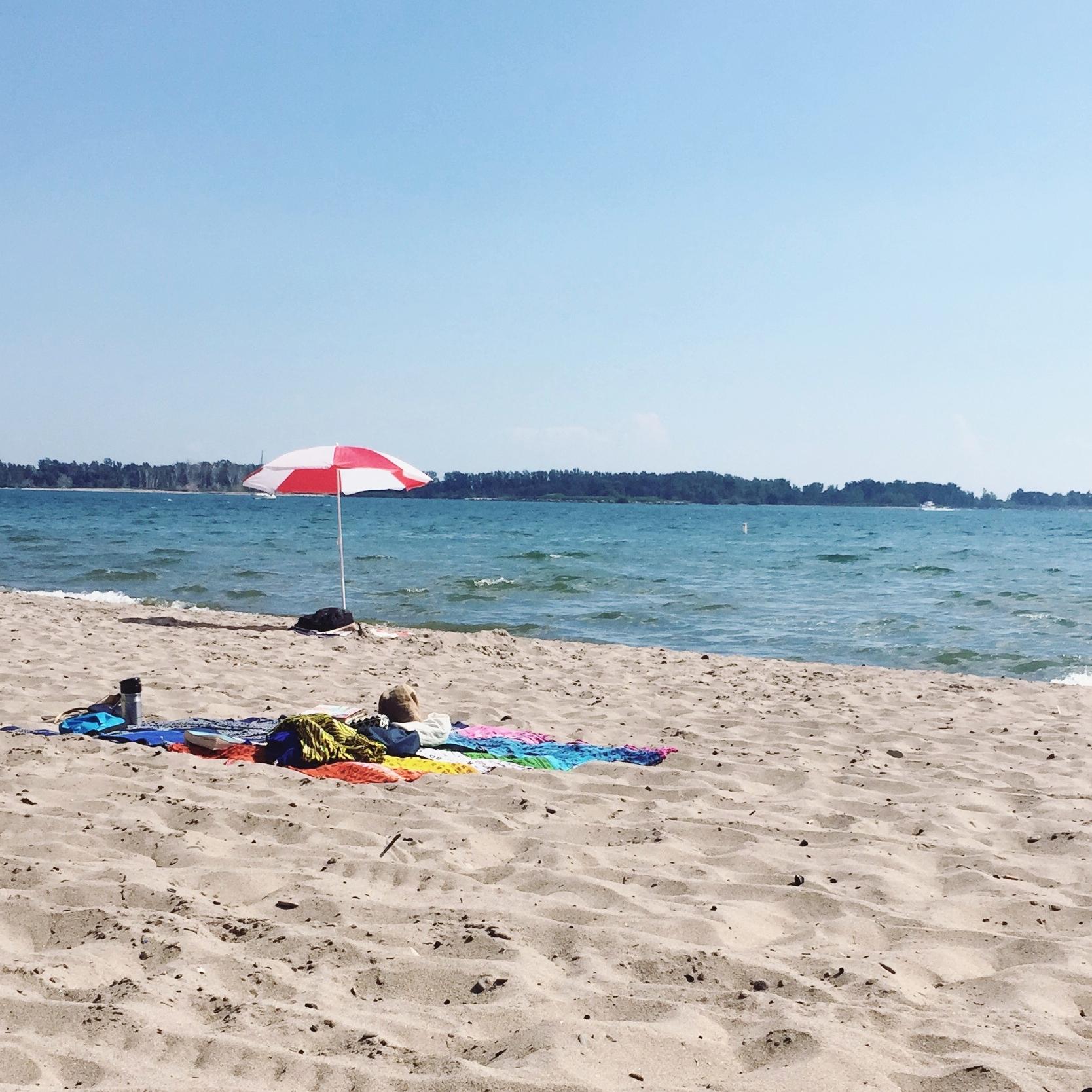 A rare beach day.