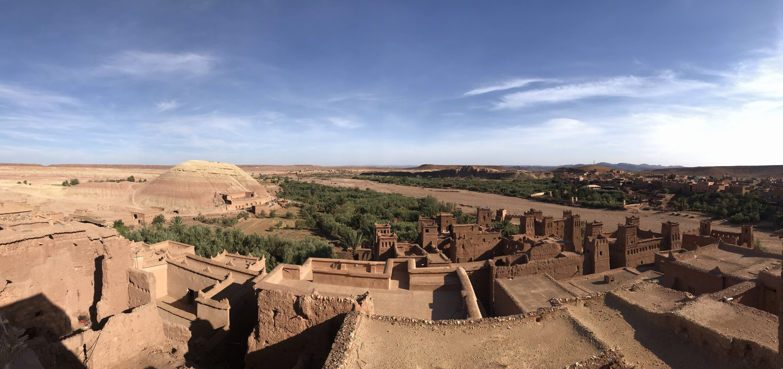 A panoramic view of Ait Ben Haddou
