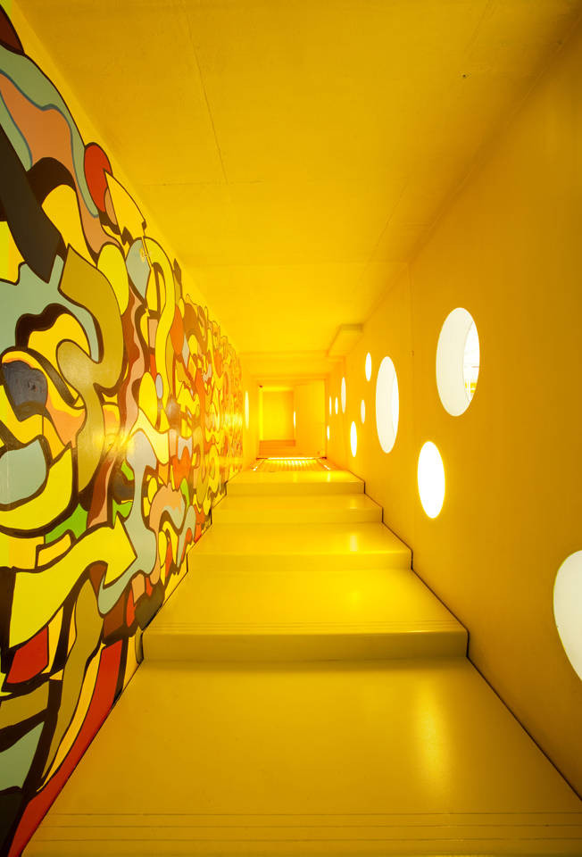 childrens museum of art wavelength led retrofit hallway