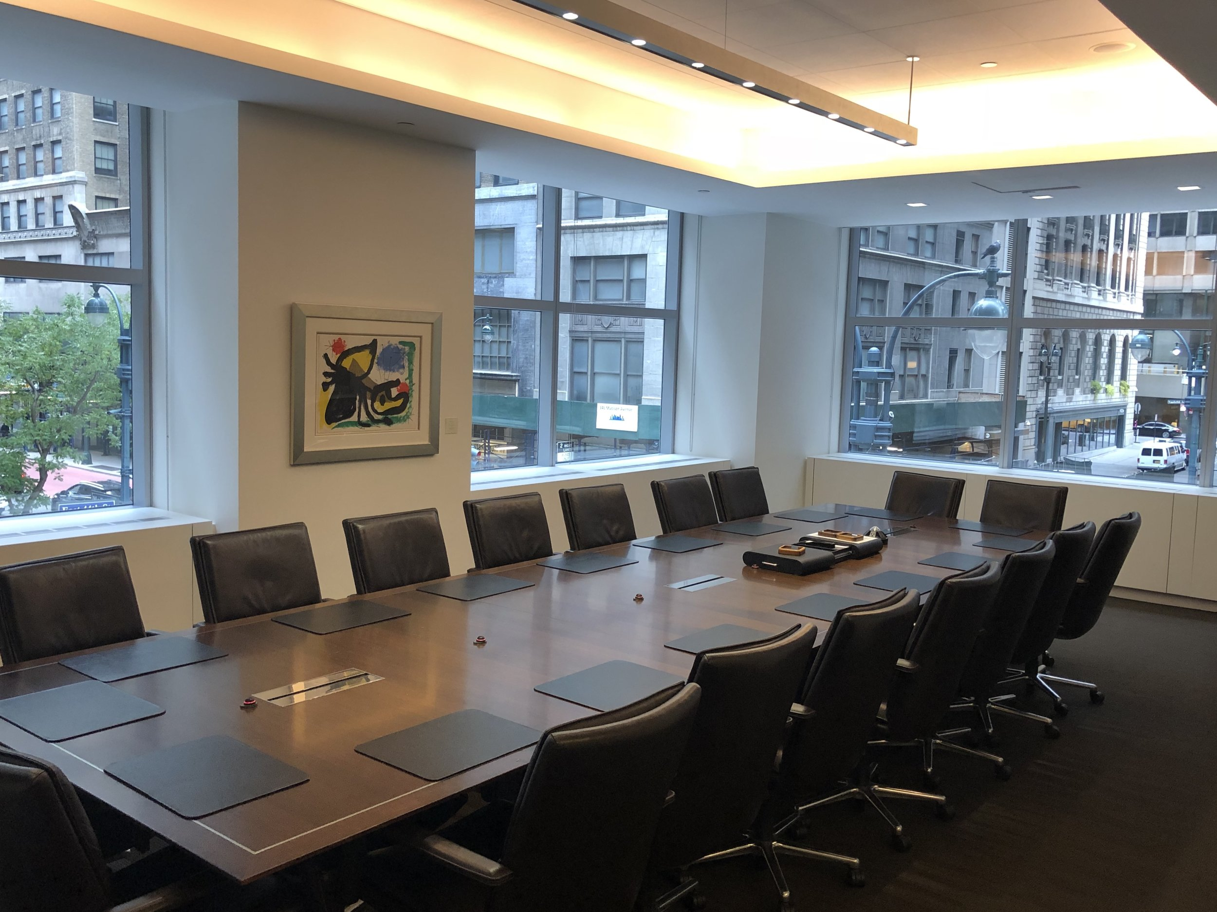 McDermott Will Emery Wavelength led conference room
