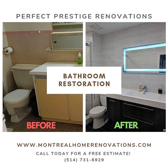 Before or after, which do you prefer? All of the work was completed 3 days before schedule and on budget! Perfect Prestige Renovations. Call today for a free estimate 514-731-6929  #homeimprovement #renovations #roofer #contractor #restoration #montreal
