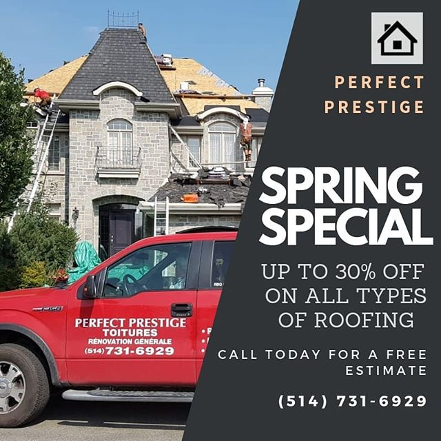 Perfect Prestige Renovations. Contact us today 514-731-6929. Over 35 years experience. Fully licensed. Free estimates. Seniors Discounts.  #roofing #homeimprovement #contractor #roofer #montreal #renovations
