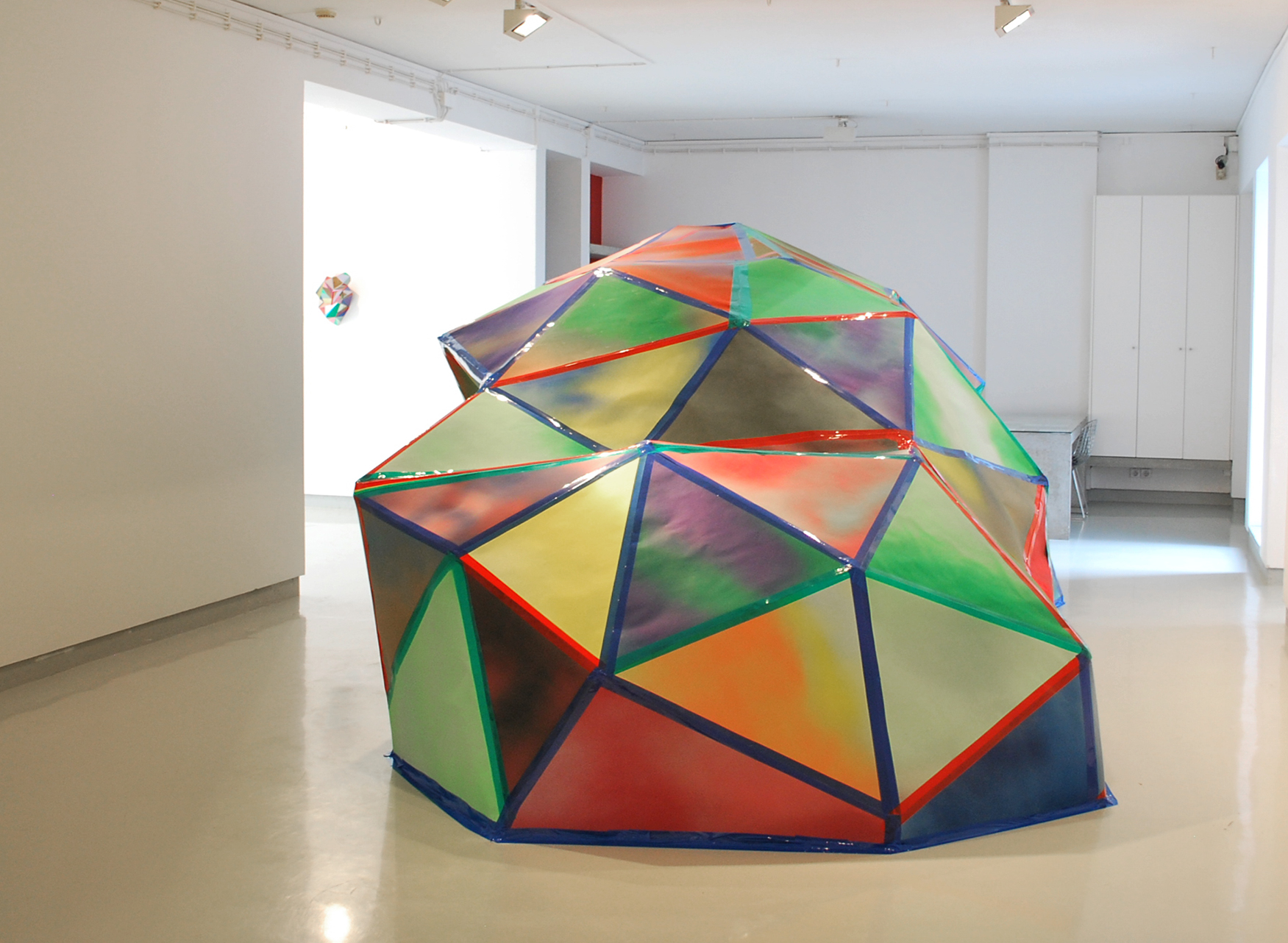 Portable Sculpture , 2012, 2005 Peugeot Partner Van, wood, paper, house spray paint and colored tape, 214.6 x 214.6 x 92.7 inches, Porto, PT