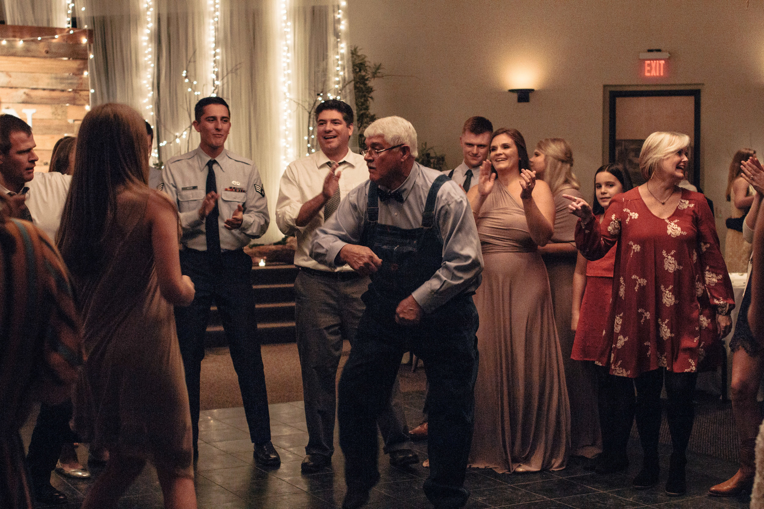 Grandpa reigned supreme during his time on the dance floor. The mother of the bride said she had never in twenty-three years seen him dance.