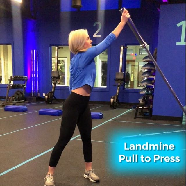 Who's struggling with the Landmine Pull to Press in this month's Full Body? We got chu ✊ ⠀⠀ Also, @abbyy_b_ might quit her internship with us after having to shoot 100 takes this morning 😅 swipe ➡️ to see the struggle 🤦🏼♀️