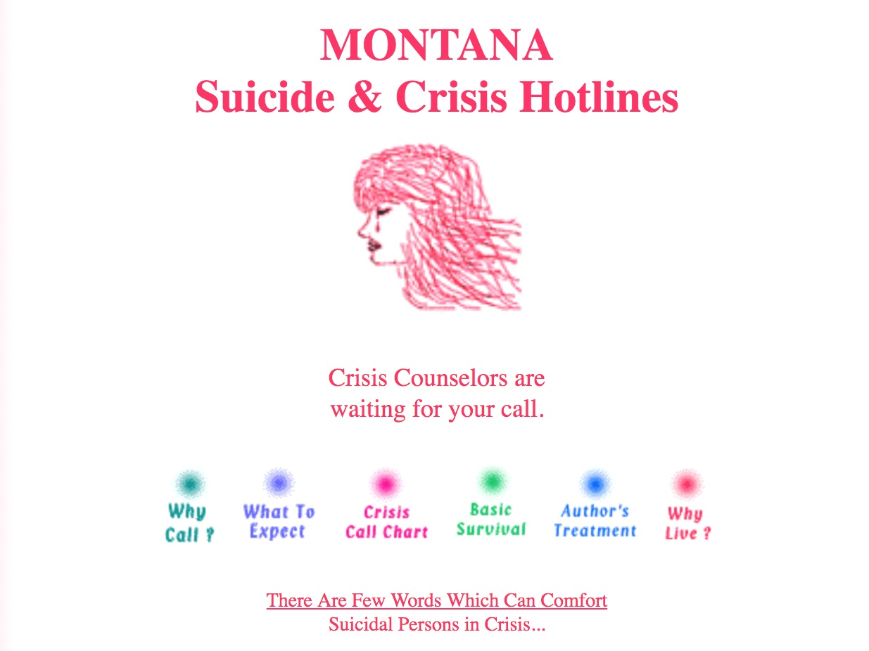 Montana hotlines - Montana has a number of crisis hotline options. Click below for more information.