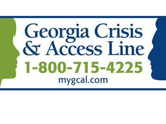 Georgia crisis & Access LIne - Georgia's Crisis Helpline is available 24 hours a day, 365 days a year. You can reach them at 1-800-715-4225.