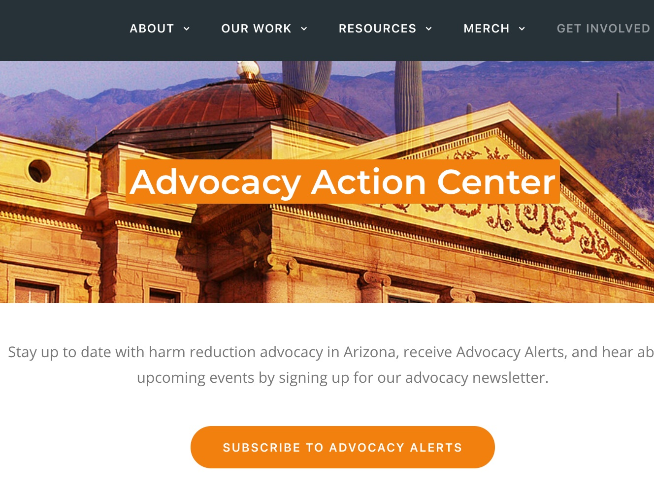 community organizing - Sonoran Prevention Works hosts an Advocacy Action Center on their website. If you are interested in fighting for the rights of people who use drugs in Arizona, join their Health Advisory Committee.
