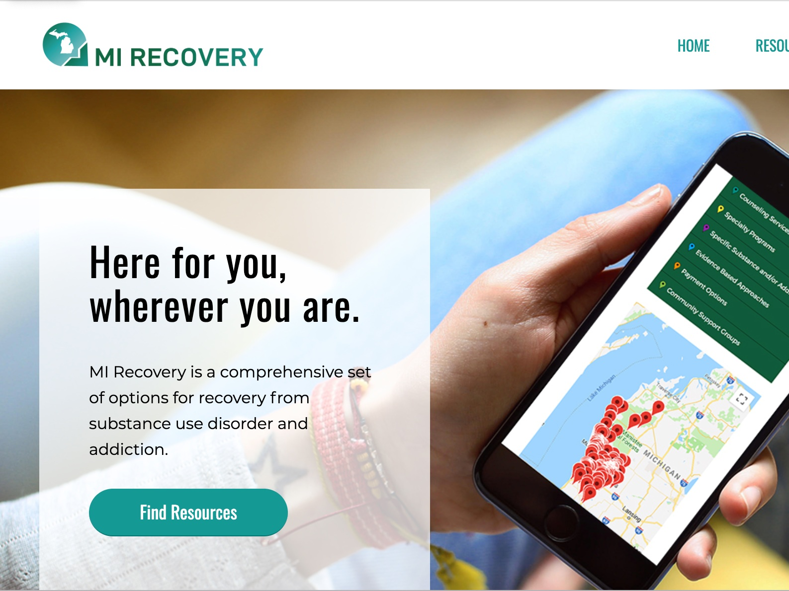 Drug Treatment options - MI Recovery is a simple, easy, and comprehensive resource for substance use treatment resources or recovery support. This service is specific to West Michigan.