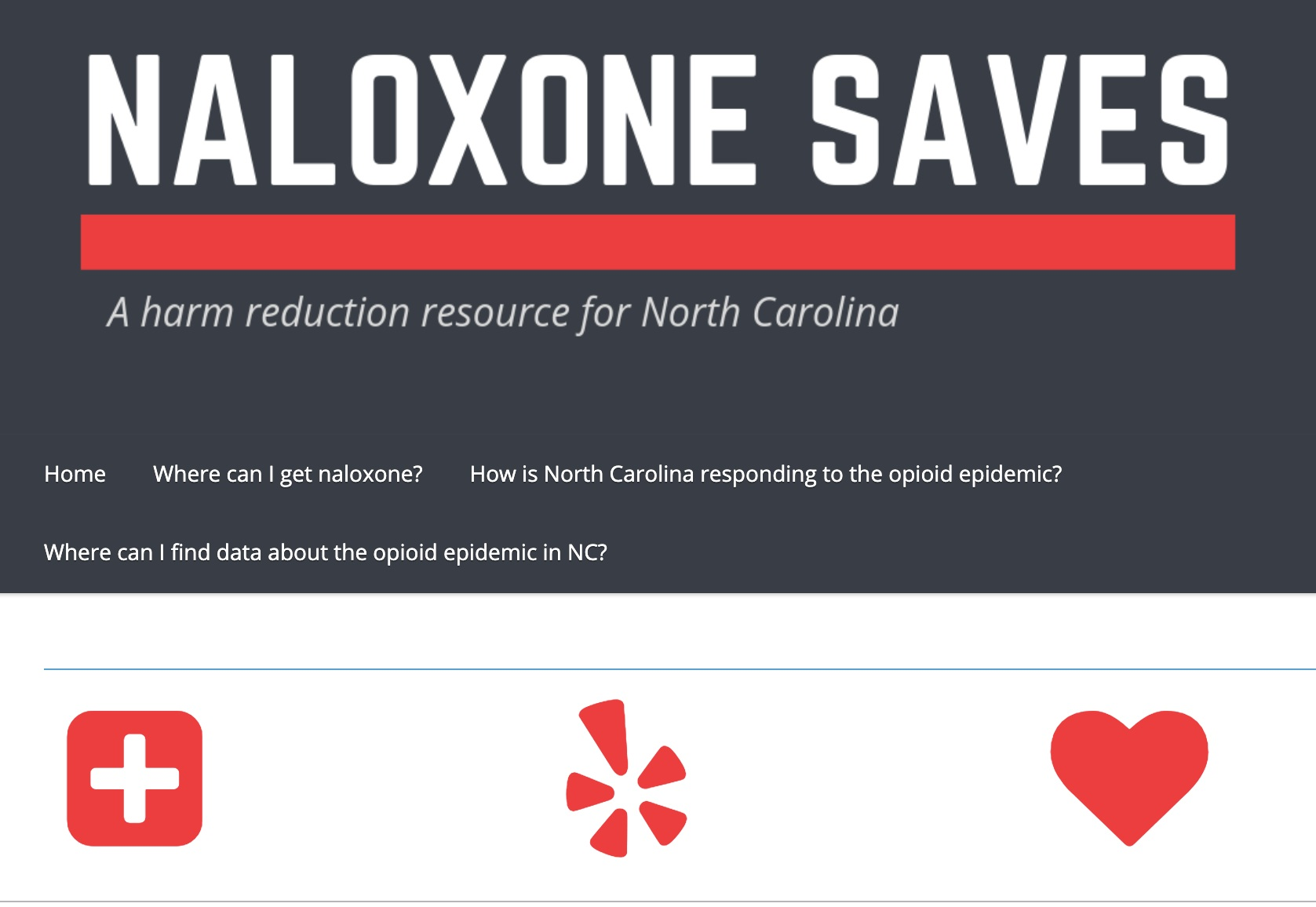 naloxone saves - Naloxone Saves is a comprehensive resource site for overdose prevention and naloxone access in North Carolina. The site includes information about naloxone access through pharmacies, health departments, and syringe exchange programs.