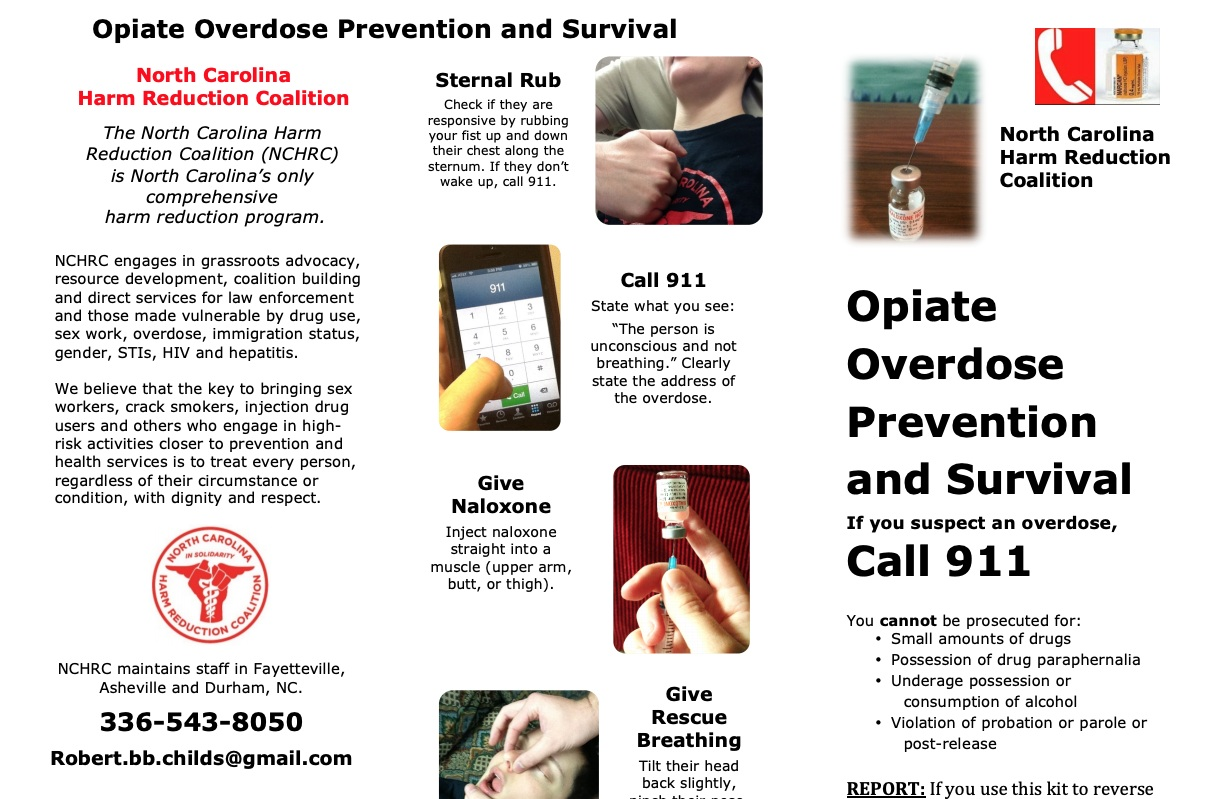 North carolina's good samaritan law - The 911 Good Samaritan laws state that individuals who experience a drug overdose or persons who witness an overdose and seek help for the victim can no longer be prosecuted for possession of small amounts of drugs, paraphernalia, or underage drinking.