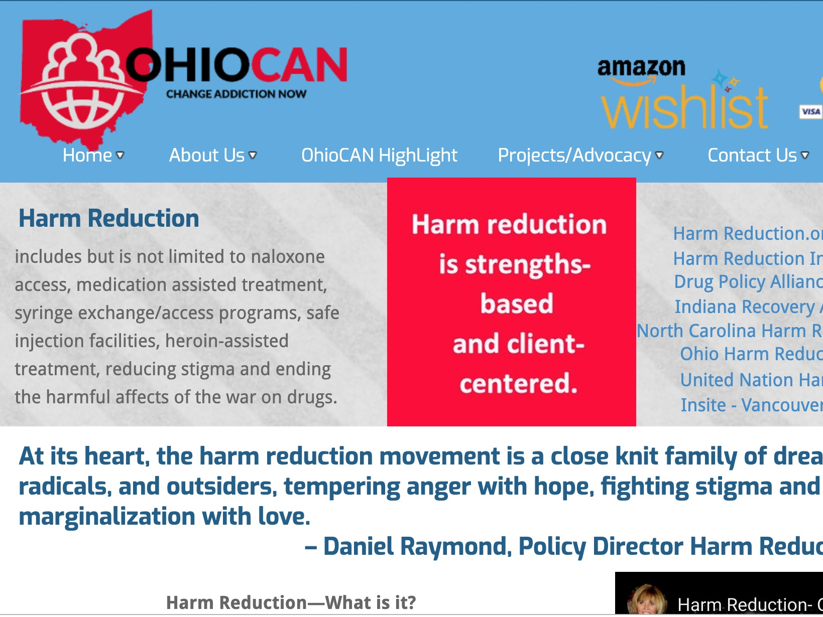 OhioCan - OhioCAN's mission is to embrace, educate, and empower those whose lives have been impacted by substance use. OhioCAN takes a harm reduction approach while working with families and friends of people who use drugs.
