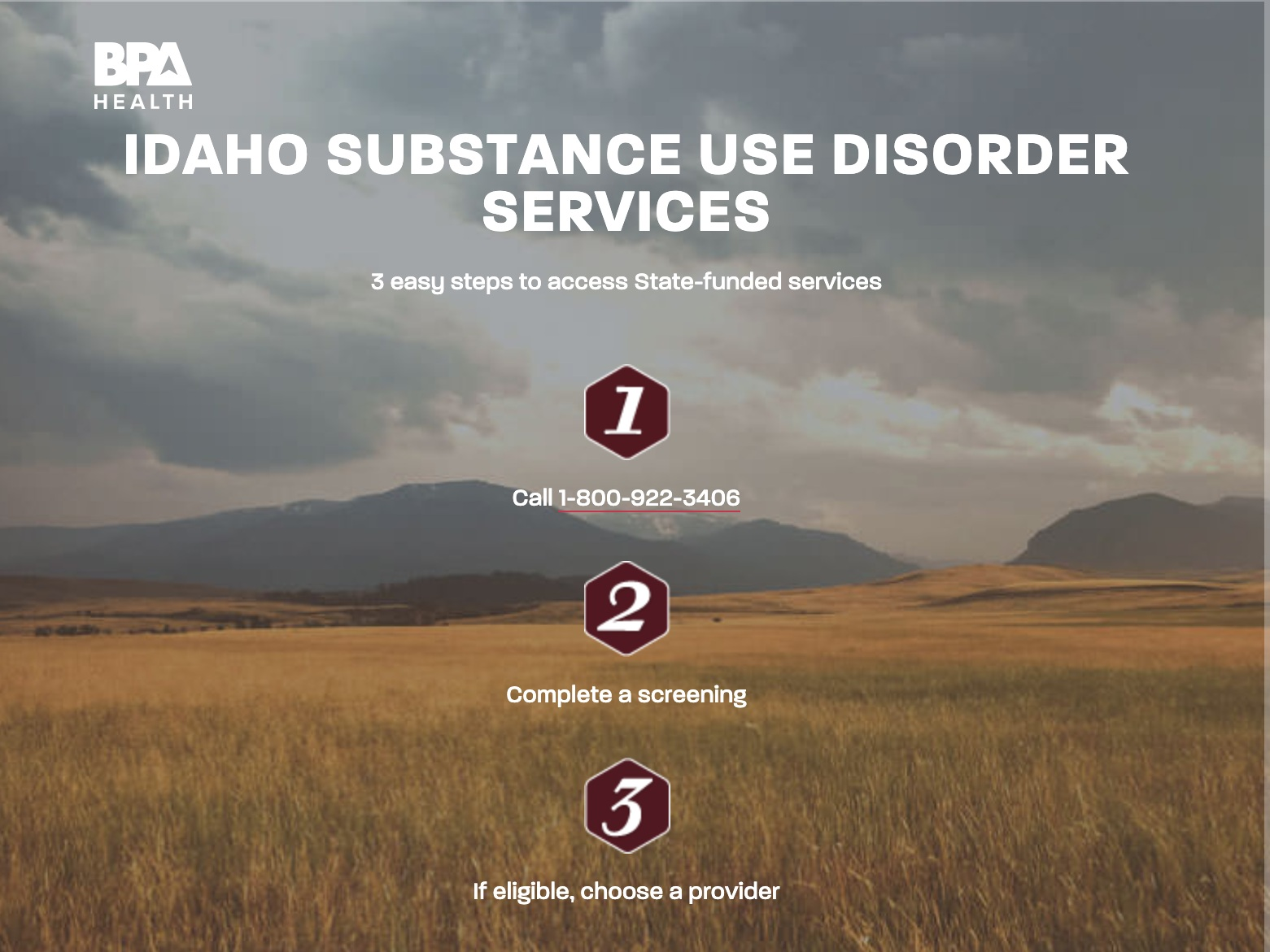 Substance use services - Information about state supported substance use services.