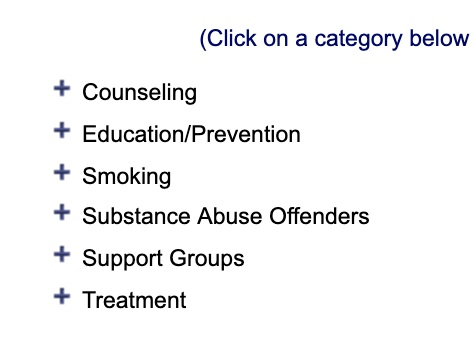 Treatment support - Use this treatment locator to find resources related to substance use treatment, support groups, counseling, smoking cessation, and more.