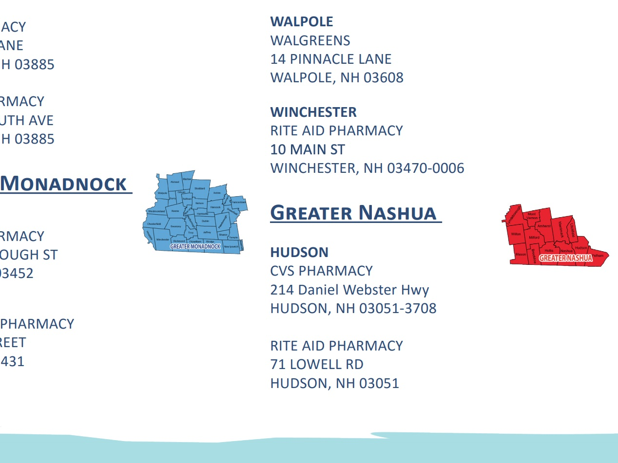 pharmacy-based naloxone access - Click the button below to find a pharmacy in your area that provides naloxone distribution. Call ahead to assess availability and request information about your co-pay.