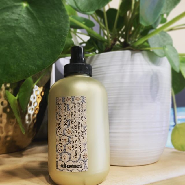 *** product feature of the week! *** @davinesofficial THIS IS A SEA SALT SPRAY is our go to for added texture and lived in locks. It's a must have for these summer days! Come get yourself some beachy goodness from the studio today. ☀️ 🏝 🌱
