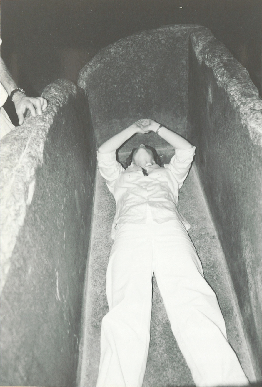 Me inside the sarcophagus in the King's Chamber saying Om…