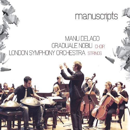 Manuscripts (with London Symphony Orchestra Strings, Graduale Nobili Choir) (2012) - CD & DVD includes 'Concertino Grosso' for Hang & string orchestra, 'CHS' for Hang & female choir as well as other compositions by Manu Delago.Watch trailer
