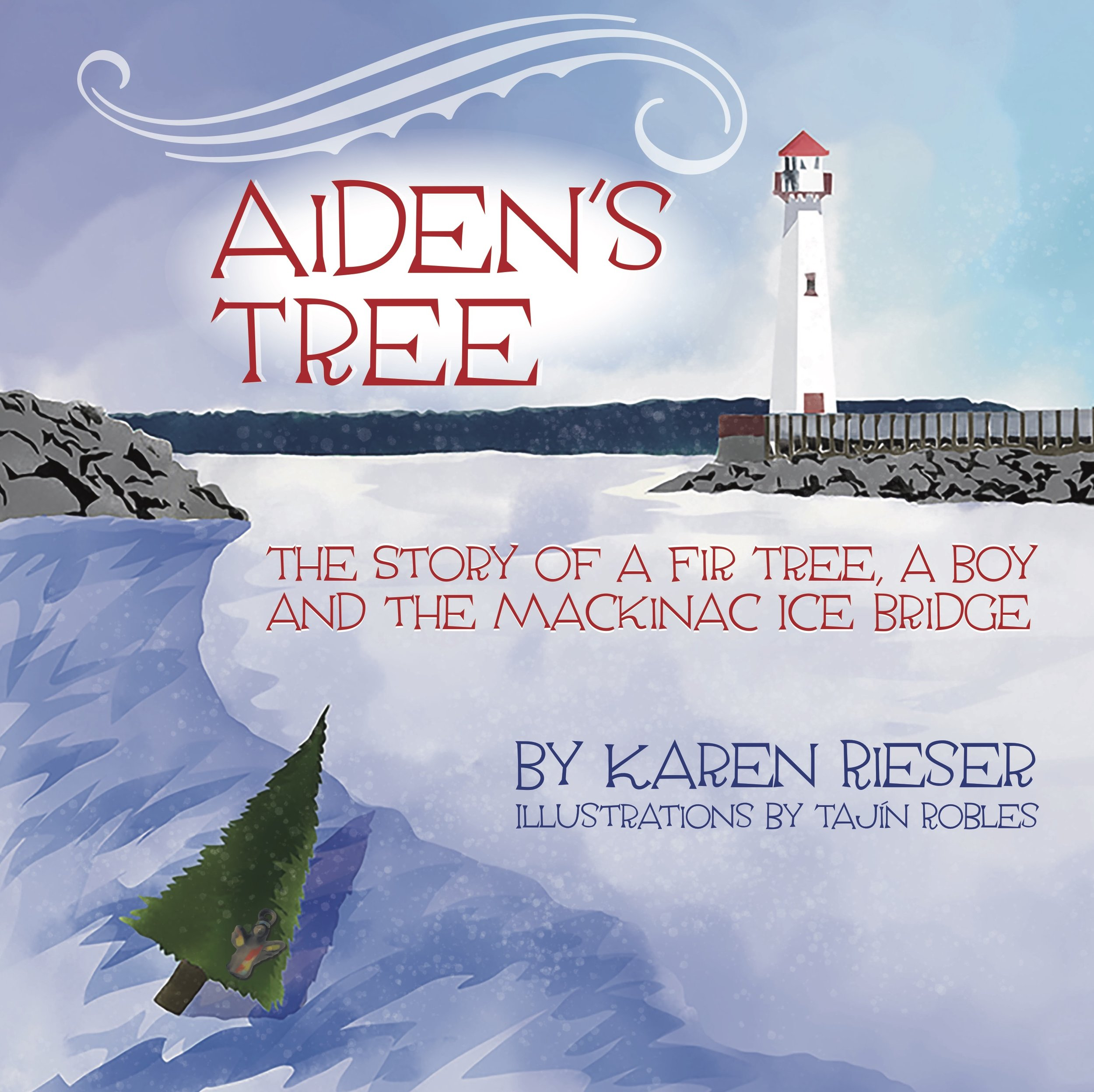 - A Christmas tree is brought into Aiden's home with great pomp and ceremony. It lights up the darkness of winter, fills the home with a cold piney scent, glistens with ornaments and is the protector of all gifts beneath it.Aiden's Tree is the story of a Michigan fir — from seedling to Christmas tree to a marker on the Mackinac Ice Bridge and more.More about the bookBuy the book on Amazon