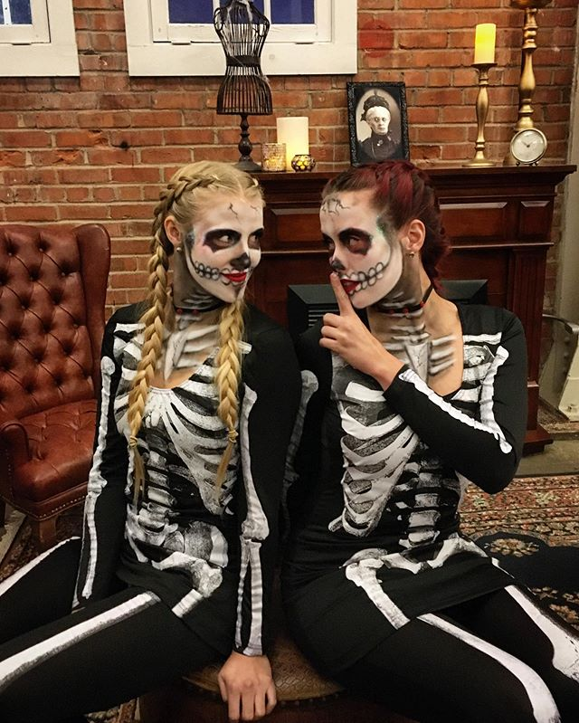 "Naughty or Nice? 🎃💀💋 It's officially Halloween season at BrickHouse and we're ""dying"" to know what will YOU be for Halloween this year? . . . . . #halloween #costume #pumpkinpatch #pumpkin #party #entertainment #dancers #dancelife #makeup #dayofthedead"