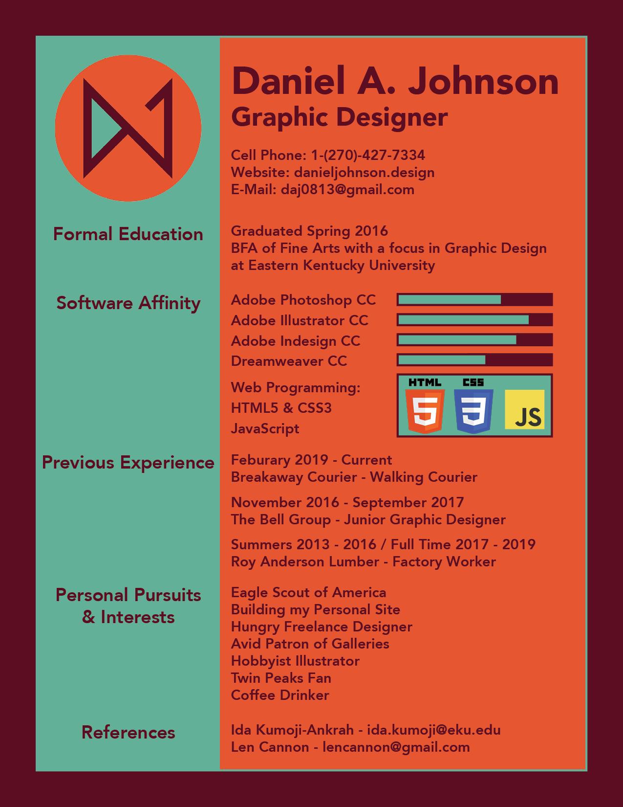 resume — danieljohnson design