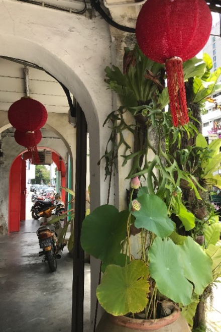 Walking through Georgetown's magical Kaki Lima, covered 5-foot walkways built-in to the front of all of the UNESCO conservation shophouses