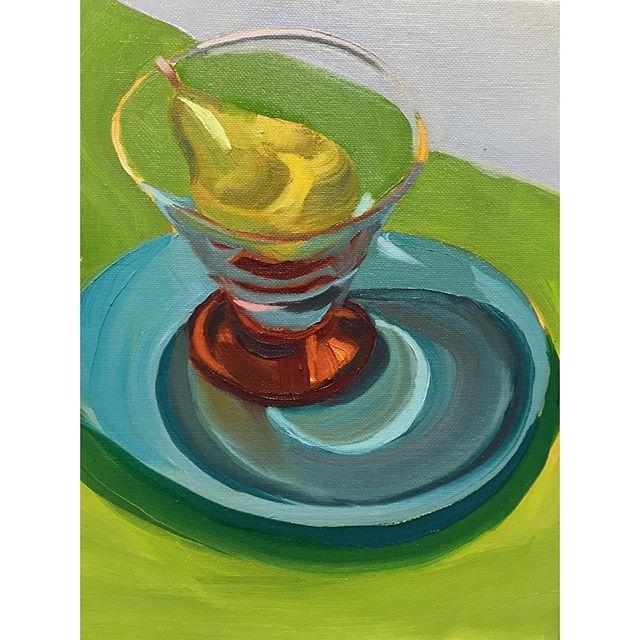Best cider all summer . . . . . #painting #allaprima #stilllife #fruit #pear #cider #cocktail #oilpainting #contemporaryart #sketchoftheday #instaart #art #summer